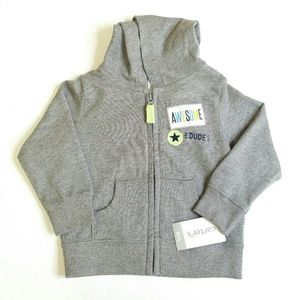 NWT Carter's Gray Zip up Hoodie